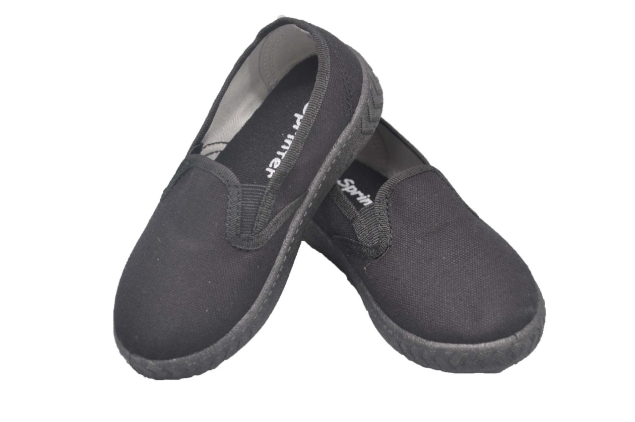 All-Black Canvas Shoes