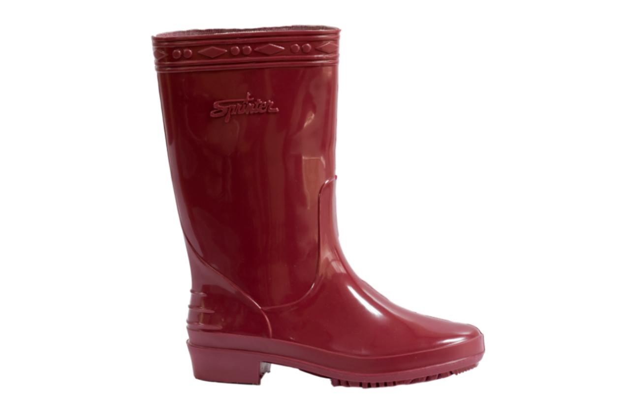 SL01 Maroon Rain Boots